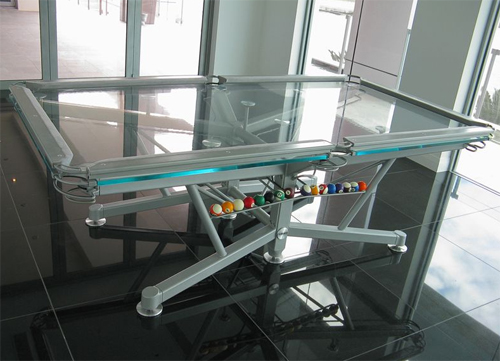 Nottage G Pool Table Play Ball In Style - Clear pool table