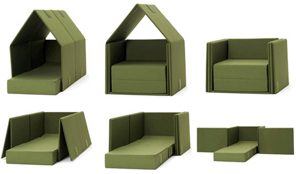 Tent Sofa A Transformable Piece Of Furniture With More Talents Than You Can Imagine  sc 1 st  CoolThings.com & Tent Sofa A Transformable Piece Of Furniture With More Talents ...