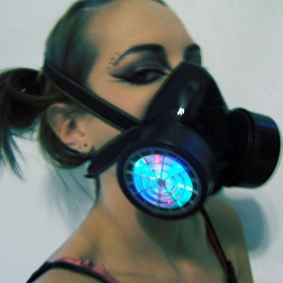 Led respirator gas mask bad odor protection for clubbers voltagebd Image collections