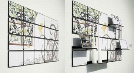 Fold Out Mural Cleverly Combines Wall Art With Functional
