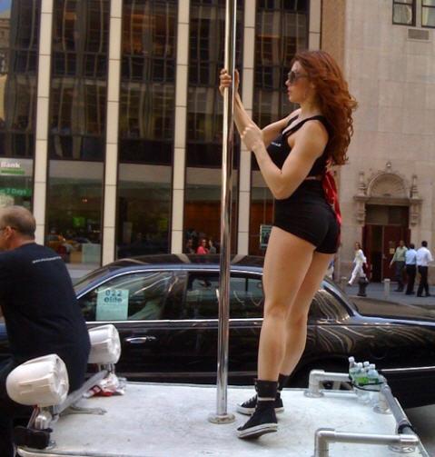Mobile strip pole