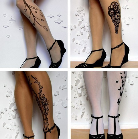 Bodyart  Tattoos on Tattoo Socks Puts Fake Tattoos On Your Stockings  Doesn   T Look Lame