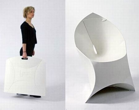 Flux Chair Folds Flat Assembles Into An Origami Like