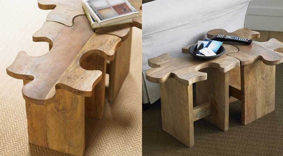 Piece Your Own Furniture Together With The Jigsaw Puzzle StoolTable