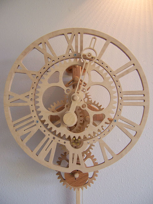 Want To Make Your Own Wicked Looking Mechanical Wooden Clock