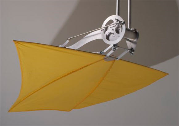 Loft wing ceiling fan sweeps the air to blow cool winds your way the loft wing uses a 96 x 46 inch fabric wing available in many custom colors held up by tapered high strength carbon fiber rods that sway it over and audiocablefo
