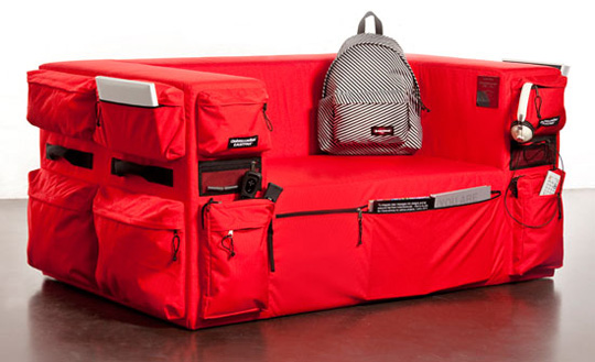 Eastpak x Q&M Club Sofa 01 Cleans Up Living Room Clutter With Pockets