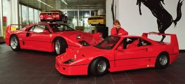a one off kid sized 1992 ferrari f40 goes on sale