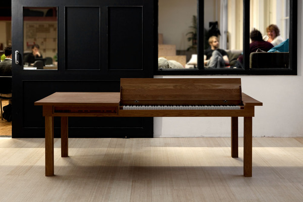 Piano Dining Table Can Entertain While You Eat