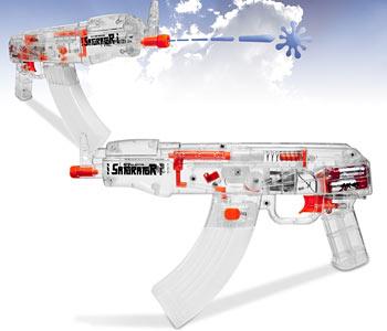Battery operated squirt gun