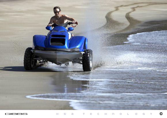 Quadski Quad Bike On Land Jet Ski On Water