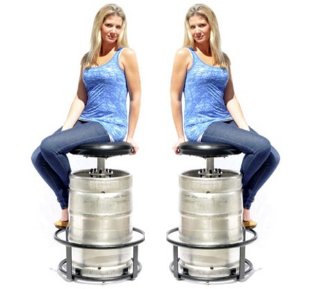 The Keg Stool Kit can attach to all 5 gallon kegs save for the ones with the key type D According to the official website this works out to about