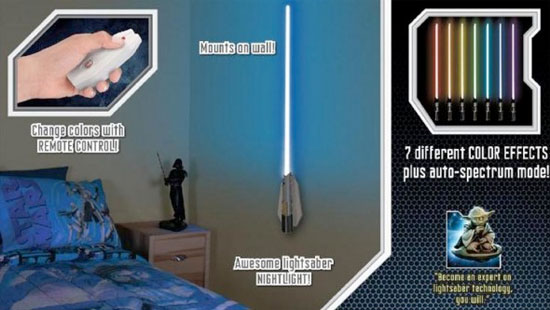Star wars lightsaber room light keeps the force strong in your bedroom the star wars lightsaber room light comes with its own wall mount allowing you to hang it where every visitor can see you want everyone to know youre a mozeypictures Images