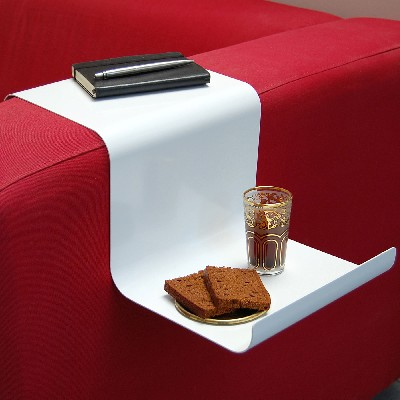 Sofahanger Is A Tray That Hooks On Your Armrest