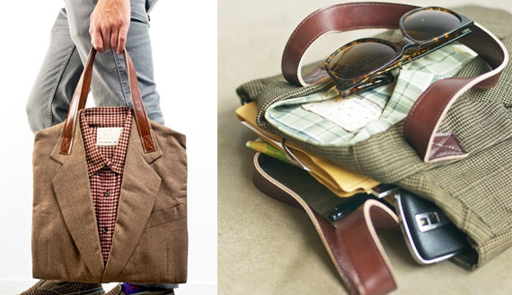 Old Clothes Find New Life As Your Bag With The Joe Recycled Suit Tote