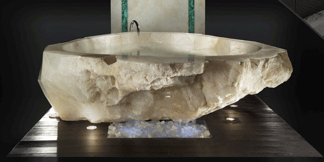 The Luxury Crystal Tub Measures 2.5 Meters In Diameter And Has Enough Room  To Fit Up To Three People At The Same Time. Sculpted With Diamond Cuts, ...