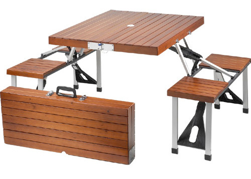 Tailgate Wooden Picnic Table Folds Into A Suitcase