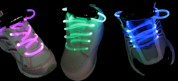 LED Light-Up Shoelaces Will Illuminate The Ground You Walk On