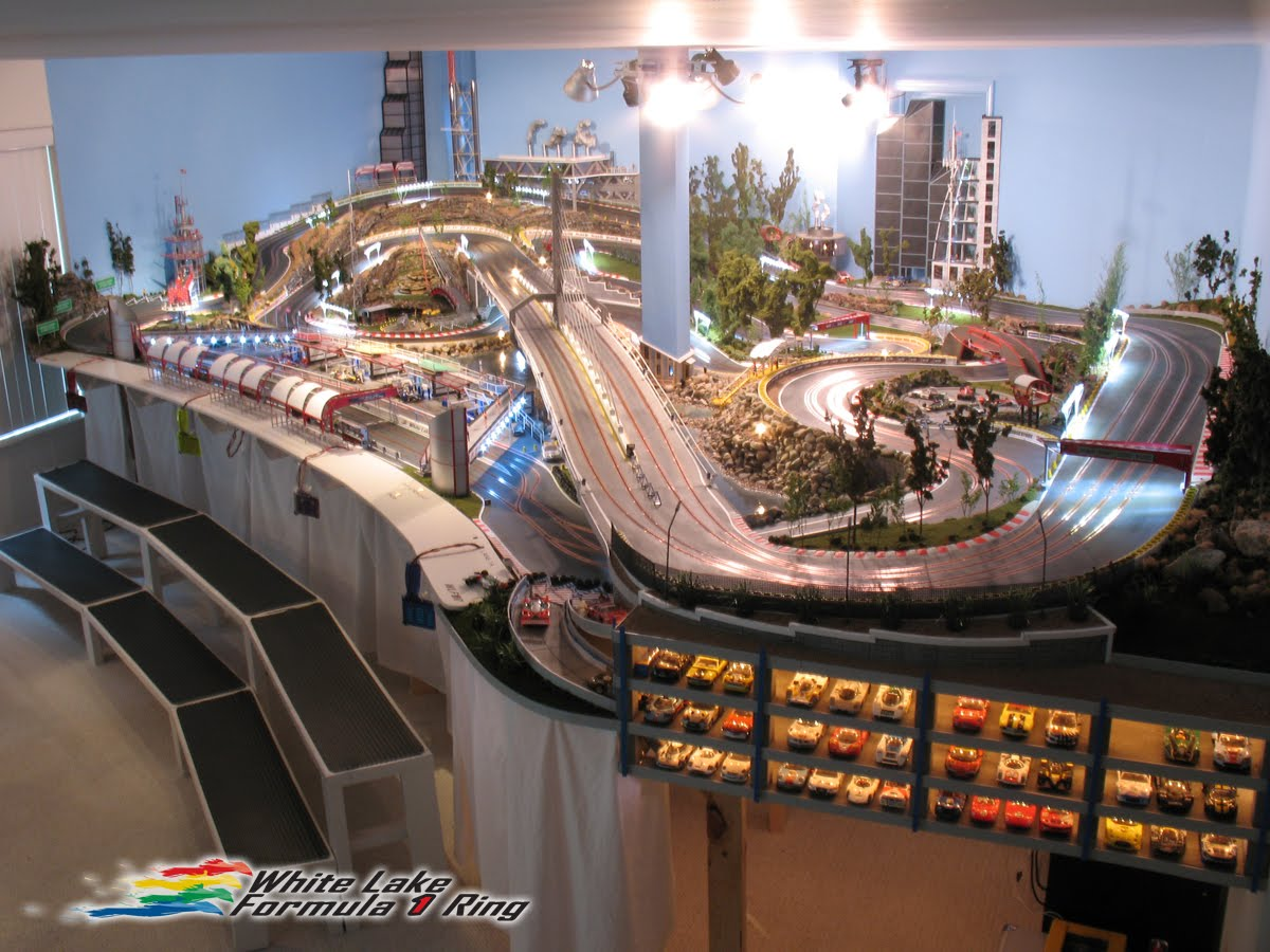 White Lake F1 Ring Is A Seriously Elaborate Slot Car Track