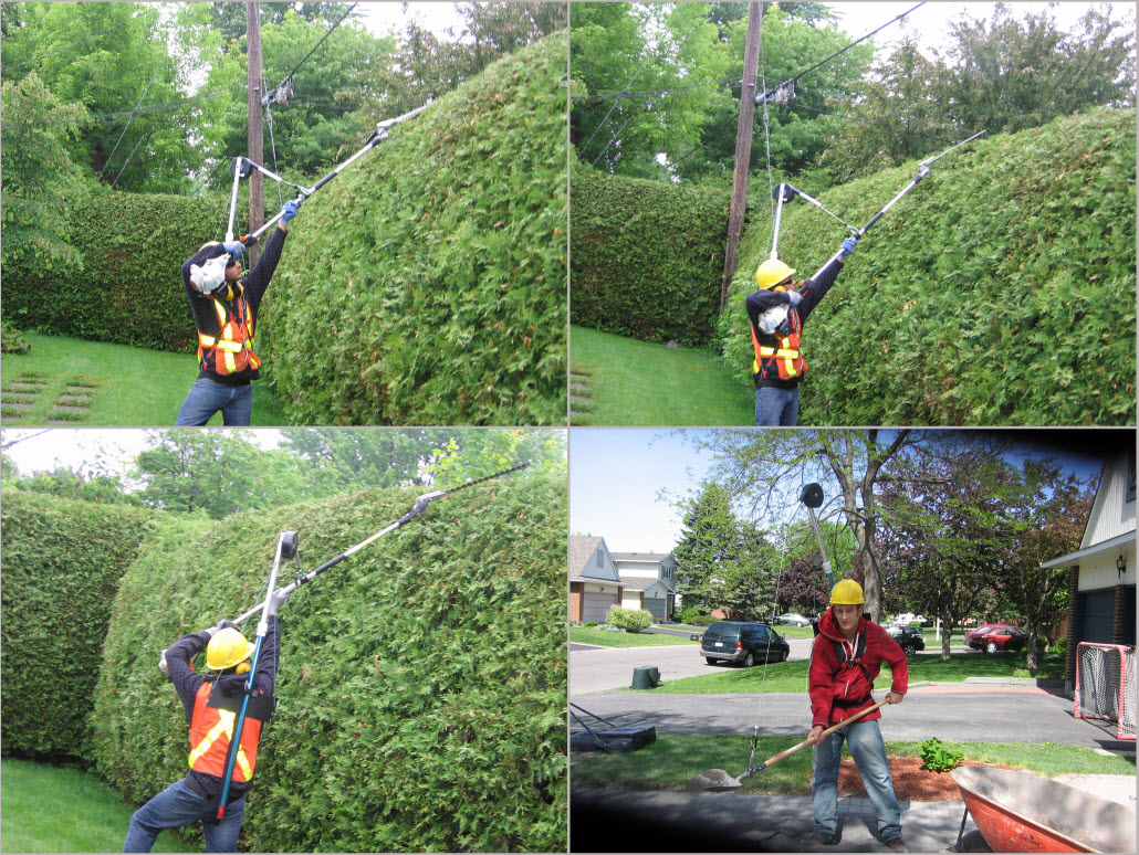 Pole Saw Harness Support Wire Center Belinda39s Alma Doepel Tall Ship Site Portable Tool Balancer Lets You Wield Giant Chainsaws Rh Coolthings Com Stihl Double