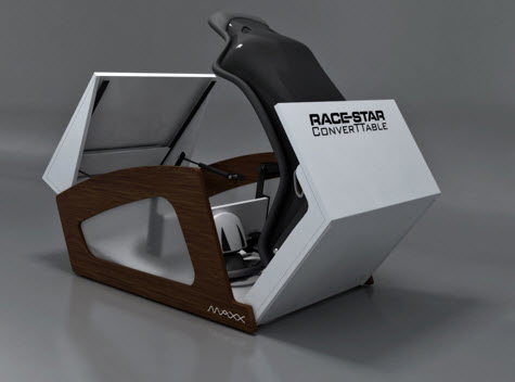 Race-Star ConverTTable Arcade Racing Cabinet Folds Up Into A ...