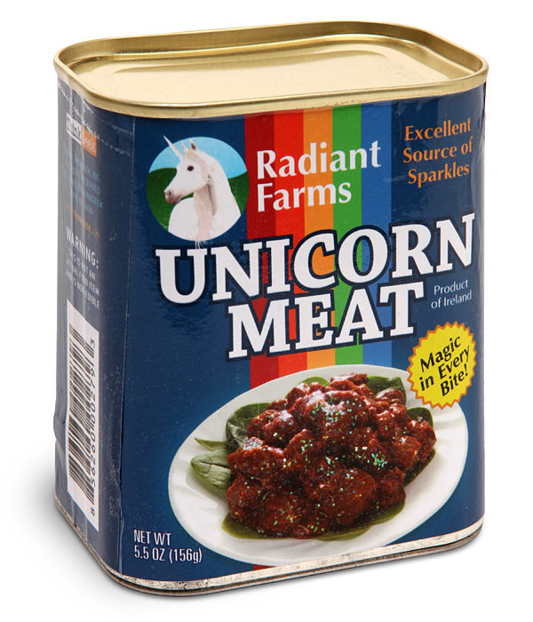 Canned Unicorn Meat Makes Christmas Dinner Magical