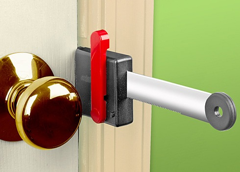 It also reinforces the hold of the door making breaking the barrier down all that much more difficult. & Zelco Lock-Up Portable Door Lock Adds An Extra Barrier To ...