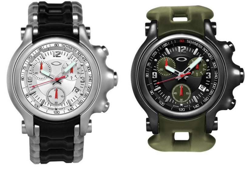 oakley holeshot watch features sporty design beefy frame