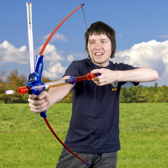 Image is loading Spiderman-AVENGERS-Nerf-Gun-Bow-and-Arrow-Crossbow-