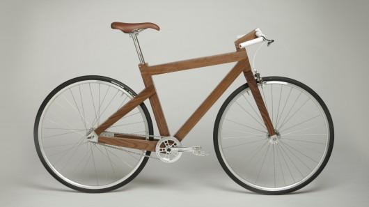 lagomorph bike sports a furniture inspired wooden frame - Wooden Bike Frame
