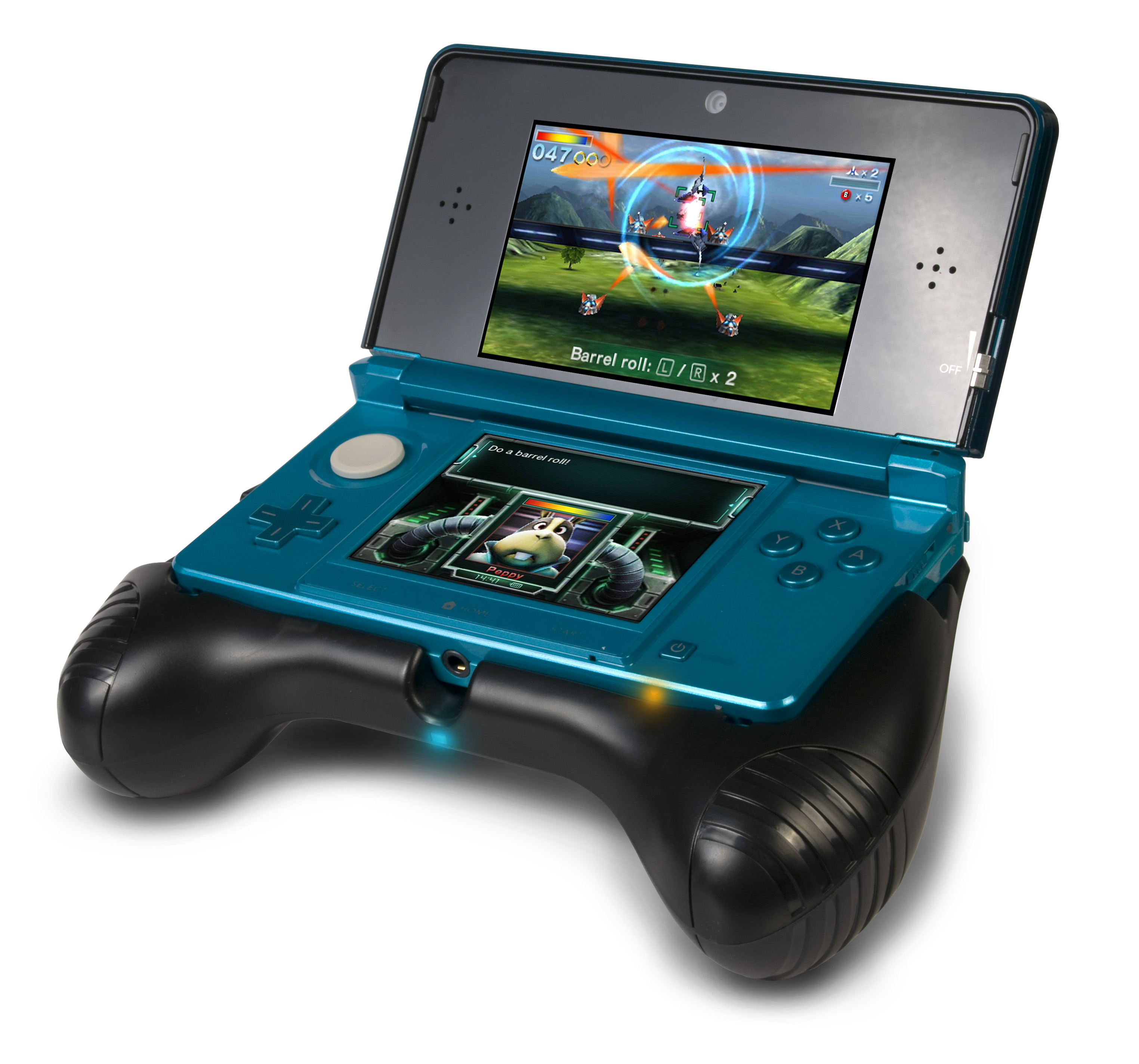 3ds Deluxe Power Grip Adds Console Handles Extra Battery