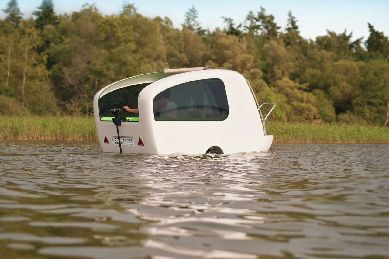 Sealander Is A Mini Camper For Land And Water