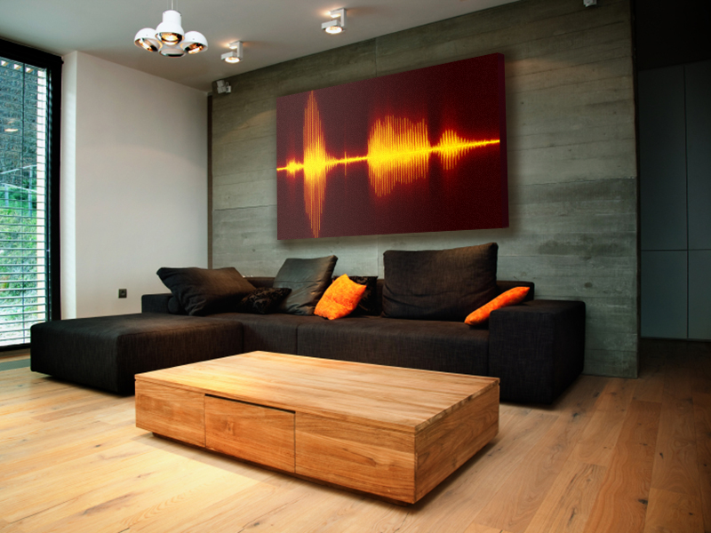 Cool Things To Hang On Wall resonant décor prints a personalized audio wave for hanging on