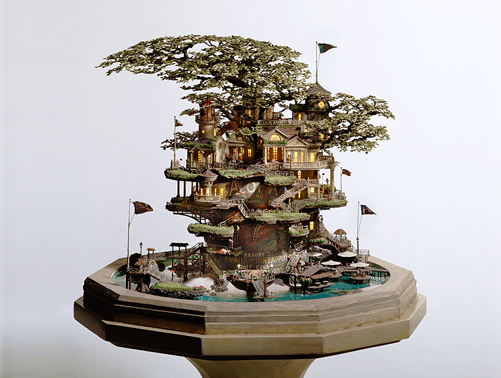 by using Japanese artist, means of Colossal - Bonsai Tree Art