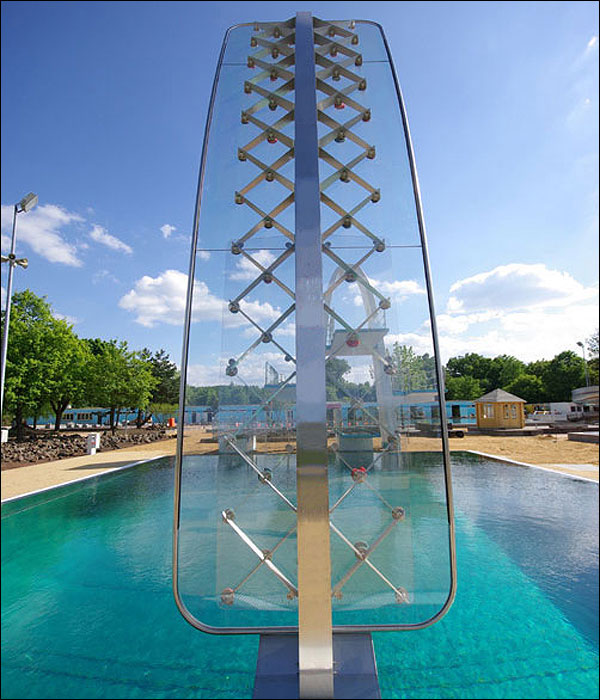 Is This The Coolest Diving Board Pool Side Climbing Wall Ever
