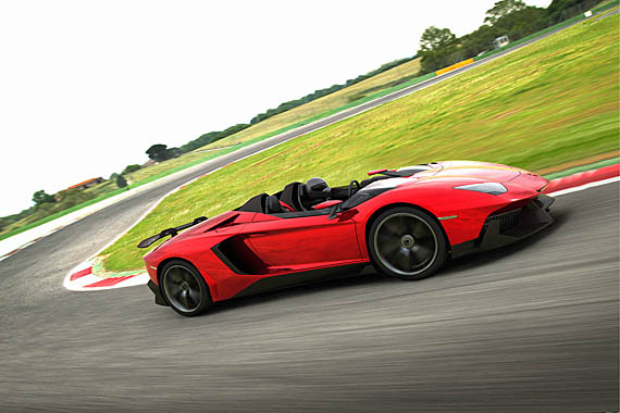 in place of a windshield the lamborghini aventador j uses really small wind deflectors in front of the driver and passenger seats to keep things bearable