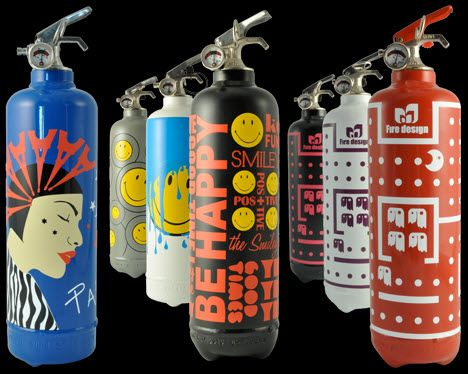 Decorative Fire Extinguisher these fire extinguishers may actually complement your home decor