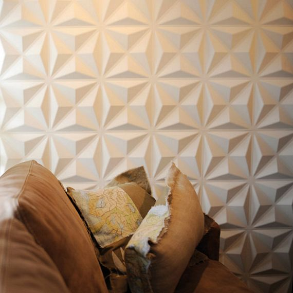 3d wall panels add seamless embossed patterns to your wall for Plaques murales pvc