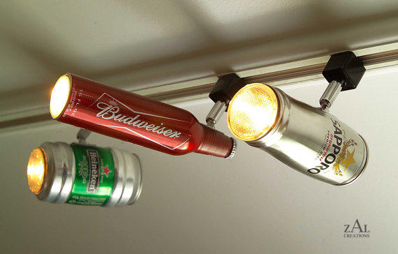 Beer can track lights coolest lighting for a home bar ever the aloadofball Images