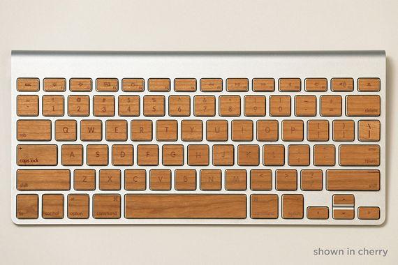 Lazerwood Keys Add Wooden Tops To Your Apple Keyboards
