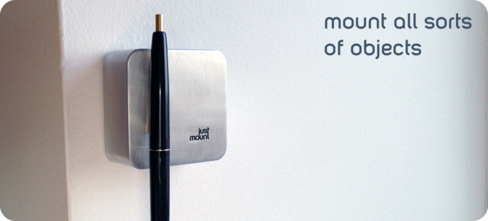 Justmount Is A Wall Mounted Magnetic Organizer