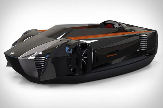 mercier jones hovercraft floating vehicles can look like sportscars too. Black Bedroom Furniture Sets. Home Design Ideas