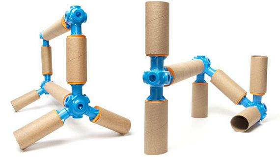 Toobalink turns cardboard tubes into construction toys