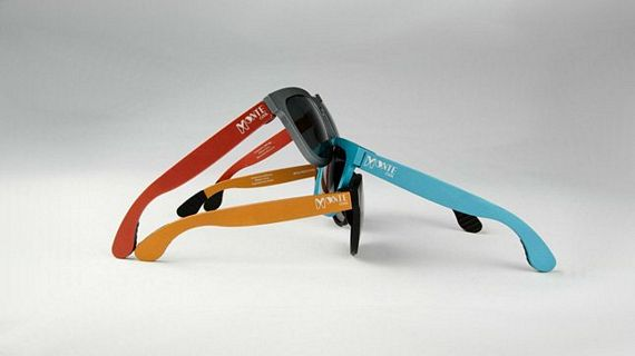 Interchangeable Sunglasses  monte cool sunglasses come with colorful interchangeable temples