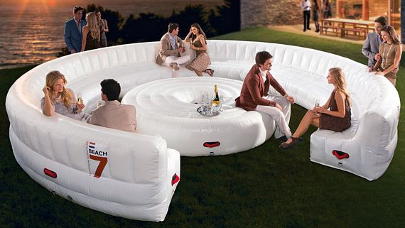 beach7 airlounge xl is a party sized inflatable couch inflatable furniture blowup furniture