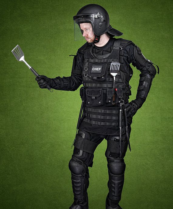 Tactical Bbq Apron Is A Kevlar Vest For Your Grilling Missions