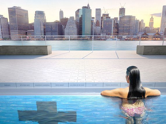 Pool will put a public pool in the middle of nyc s east river for Morris il public swimming pool