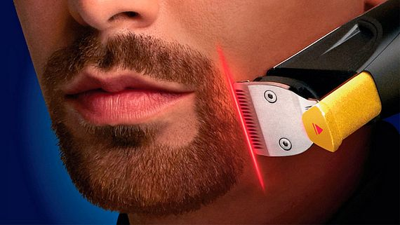 stylexpert beardtrimmer 9000 it s a hair clipper with lasers. Black Bedroom Furniture Sets. Home Design Ideas