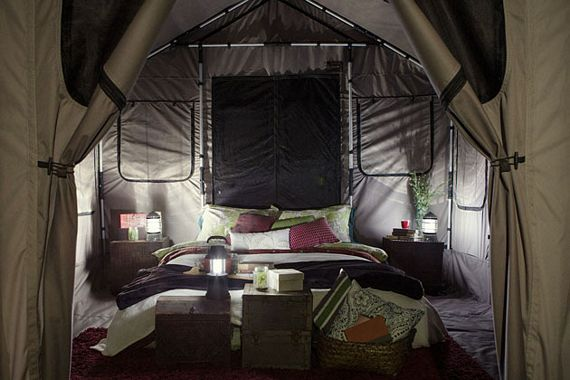 The Safari Tent Can Accommodate Sleeping Beds For Up To Eight People Along With Extra Space Gear And Supplies All Vertical