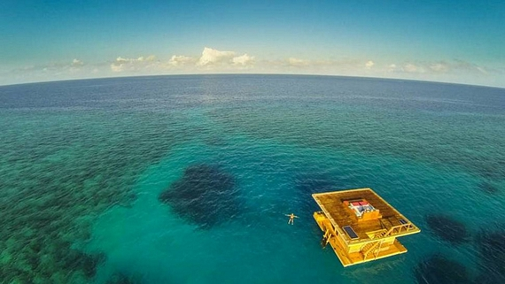 Located off Pemba Island in Zanzibar Africa the Manta Resort s Underwater  Room consists of three. Cool Things For In Your Room